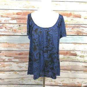Urban outfitters Kimchi blue   blue paisley top